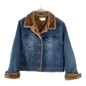 Marvin Richards Denim Jacket/Faux Fur Lined XL